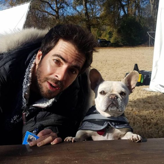 Celebrities with French Bulldogs Eli Roth