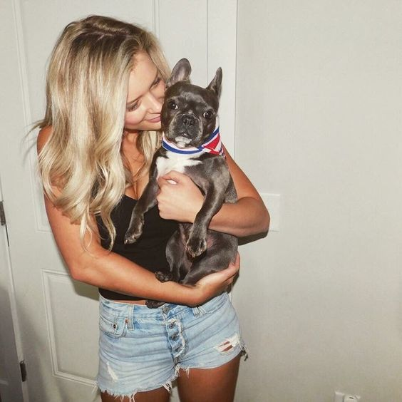 Celebrities with French Bulldogs Reagan Agee