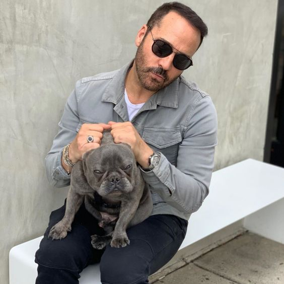 Celebrities with French Bulldogs Jeremy Piven