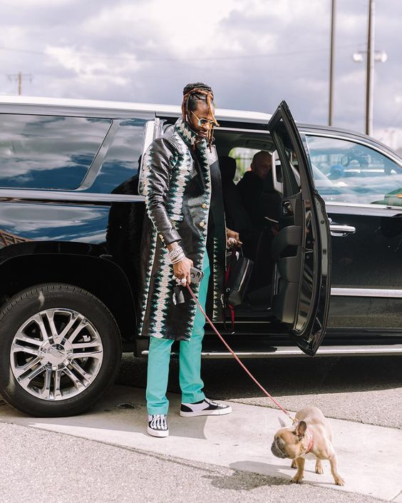 Celebrities with French Bulldogs 2 Chainz