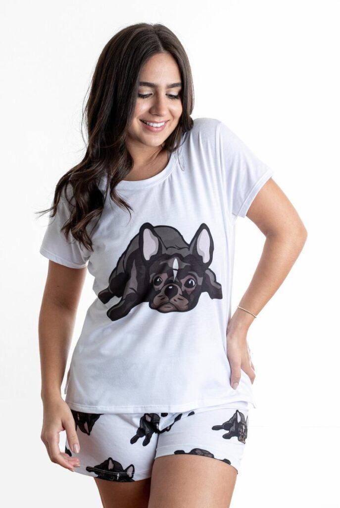 Dog-French-bulldog-pajama-set-with-shorts-for-women-Frenchie-love-frenchie-gift-French-bulldog-Pjs-dog-pajamas