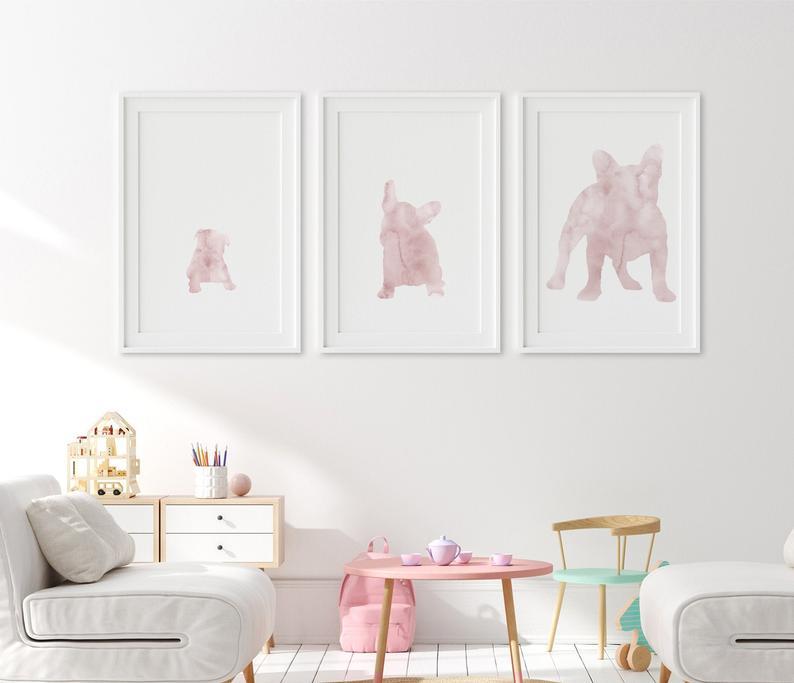 French-Bulldog-Wall-Art-Printable-Growing-Dog-Pink-Triptych-Set-of-3-Prints-DIY-Large-Wall-Art-Bulldog-Grow-Bedroom-Wall-Décor-Gift